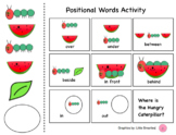 Very Hungry Caterpillar OT activities and Positional words