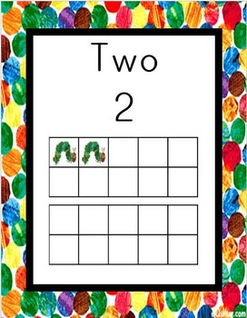 Very Hungry Caterpillar Ten Frame Numbers