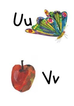 Very Hungry Caterpillar Themed Alphabet