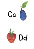 Very Hungry Caterpillar Themed Alphabet