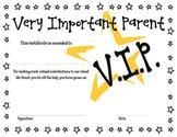 Very Important Parent Award