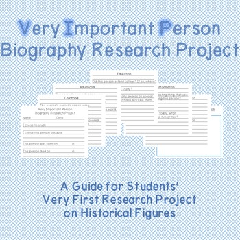 Very Important Person VIP Biography Research Project