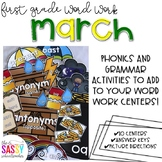 First Grade Word Work March