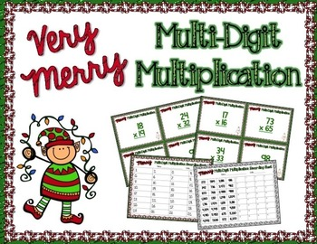 Very Merry Multiplication Task Card Game