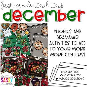 First Grade Word Work December
