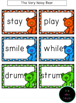 The Very Noisy Bear Rhyming Word Cards