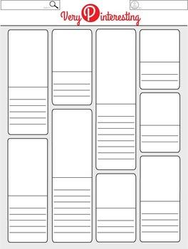 very pinteresting blank pinterest worksheet template posters by wendy mcclure. Black Bedroom Furniture Sets. Home Design Ideas