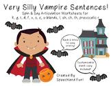 Very Silly Vampire Sentences- Halloween- Articulation