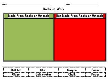 Very Simple Rock worksheets