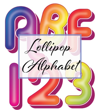 """Very Sweet and FREE! Clip Art Alphabet -  300 DPI - PDF/ PNGs - 5"""" High - Vector"""