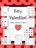 Very Valentine! ...Math, Literacy & More