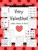 Very Valentine! ...Math, Literacy & More