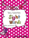 Very Valentine Sight Words