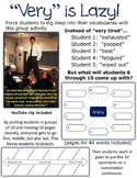 Very is Lazy! Force students to dig deep into their vocabs- identify connotation