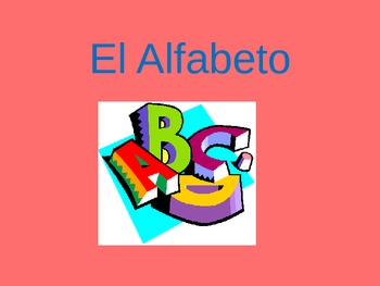 Very organized Spanish alphabet ppt