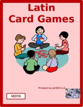 Vestīmenta (Clothing in Latin) Concentration games