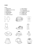 Vestiti (Clothing in Italian) Colora Worksheet 1