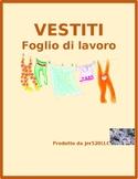 Vestiti (Clothing in Italian) Colora Worksheet 2