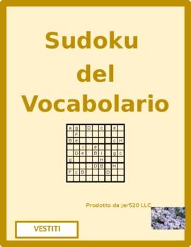 Vestiti (Clothing in Italian) Sudoku