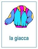 Vestiti (Clothing in Italian) Posters