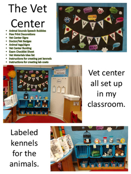 Vet Center Dramatic Play Pack