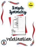 Vet - Community Helper - Simple Symmetry - Draw Color Trac