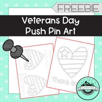 Veterans Day Push Pin Art - FREEBIE