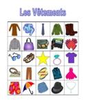 Vêtements (Clothing in French) Bingo