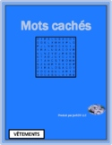 Vêtements (Clothing in French) Wordsearch