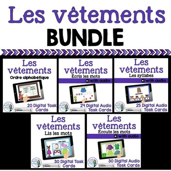 Vêtements:  French Clothing Themed Digital Task Cards BUNDLE - BOOM CARDS