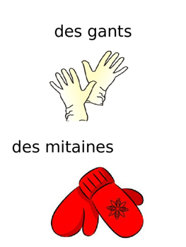 French: Vêtements: Cartes éclairs, Core & Primaire French Immersion