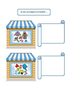 Vêtements, clothes & colors vocabulary writing and speaking practice in French