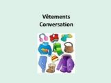 Vêtements, couleurs, météo, conversation, dialogues in French 1