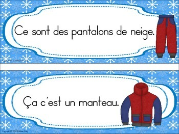 Vêtements d'hiver / French winter clothes (getting dressed)