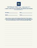 Veteran Pen Pal Project Grades 3rd-8th_Writing Template