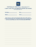 Veteran Pen Pal Project_Grades 9 through 12 Writing Template