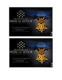 Veteran Thank You Postcard template: medal of honor