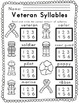 Worksheets for Veteran Remembrance Day ELA Literacy and Math Activities