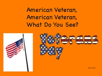 Veteran, Veteran, What Do You See?  Story, Adjective Development