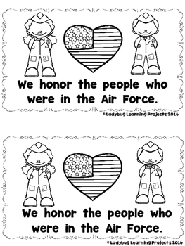 Veteran's Day  (A sight Word Emergent Reader and Teacher Lap Book)
