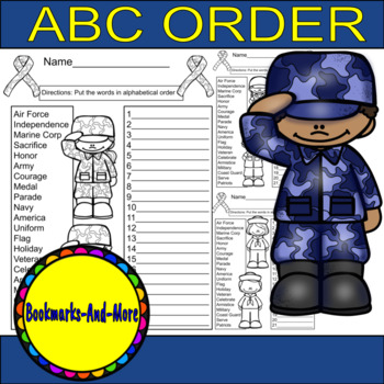 Veteran's Day ABC Order
