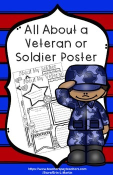 Veterans Day About a Veteran Poster