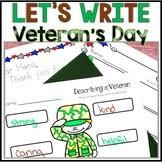Veteran's Day Activities, Veteran's Day Writing, Kindergar
