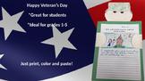 Veteran's Day Activity