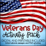 Veterans Day Activities: Veterans Day Writing, Posters, Cards