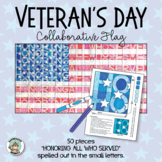 Veteran's Day Activity: Collaborative Flag Poster
