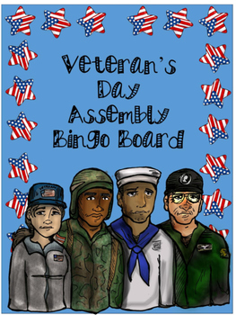 Veteran's Day Assembly Bingo Board
