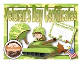Veteran's Day Certificates