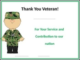 Veteran's Day Certificates - EDITABLE