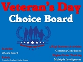 Veteran's Day Choice Board Activities Menu Project Rubric